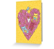 Valentine's cats Greeting Card