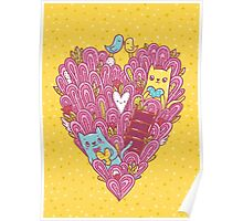 Valentine's cats Poster