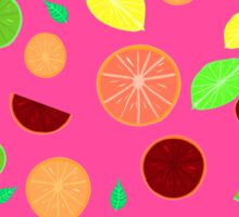 Colorful citrus background (Pink) Sticker
