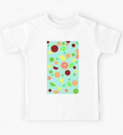 Colorful citrus background Kids Tee