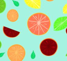 Colorful citrus background Sticker