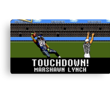 Tecmo Bowl Touchdown Marshawn Lynch Canvas Print