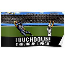 Tecmo Bowl Touchdown Marshawn Lynch Poster