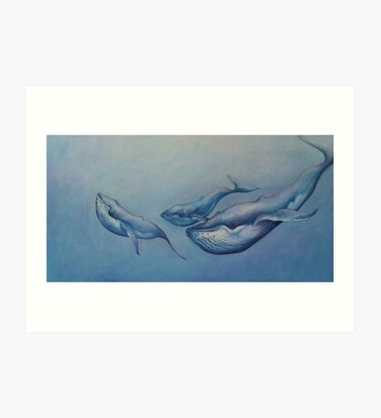 Whale Pod Art Print
