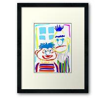 Ernie & Bert Framed Print