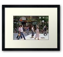 Downtown Sao Paulo, Brazil - 1982 (1) Framed Print