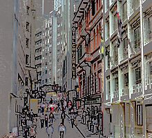 Downtown Sao Paulo, Brazil - 1982 (8) by SteveOhlsen