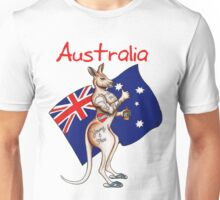Possibly the best Australia or Austrlia Day Shirt design ever! Go the thumbs up tattooed kangaroo! Unisex T-Shirt