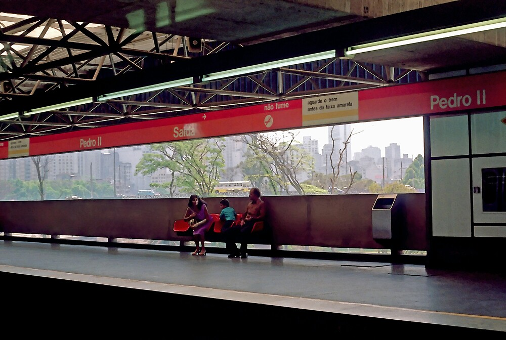 Subway (Train) Station in Sao Paulo, Brazil - 1982  by SteveOhlsen