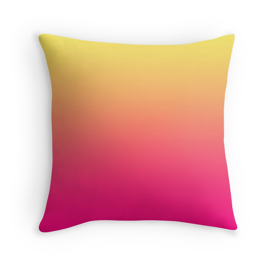 beautiful cushions gradient pink corn throw pillows by