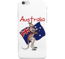 Australia Flip Off Salute Tattooed Kangaroo Design iPhone Case/Skin