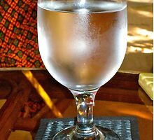 Frosty glass of cool water by soniamattson