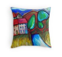 SUNDAY  DRIVE  TO  RED  HILL Throw Pillow