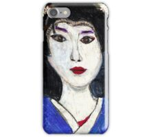 Portrait Of A Geisha iPhone Case/Skin