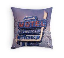 Lincoln Motel Throw Pillow