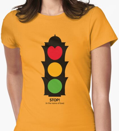 STOP! Womens Fitted T-Shirt