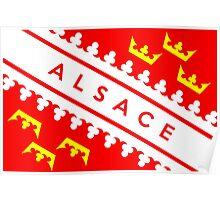 Alsace flag Poster