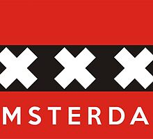 amsterdam flag by tony4urban