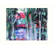 Australian  River Scene Art Print