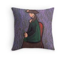 Seated woman Throw Pillow