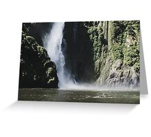 Waterfall at Milford Sound Greeting Card