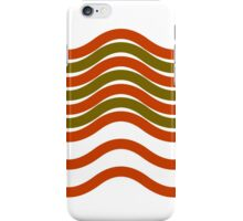 Waves Red Olive Green iPhone Case/Skin