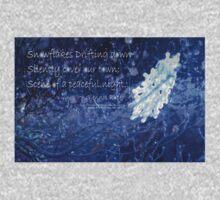 snowflake in blue 7 haiku with texture Baby Tee