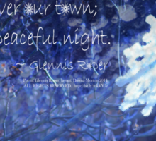 snowflake in blue 7 haiku with texture Sticker