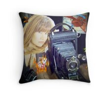 My World of Photography (self portrait) Throw Pillow