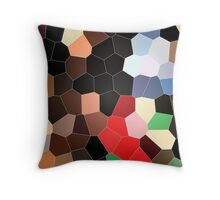 cool colorful red, brown, black, grey, green, coffee graphic pattern. Throw Pillow