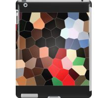 cool colorful red, brown, black, grey, green, coffee graphic pattern. iPad Case/Skin