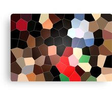 cool colorful red, brown, black, grey, green, coffee graphic pattern. Canvas Print