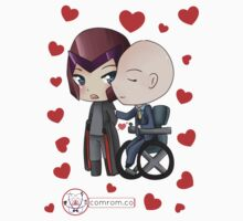 Mutant and Proud: Magneto and Professor Xavier Chibis by Klockworkkat Kids Clothes