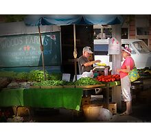 At the Fruit Market Photographic Print