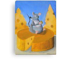 Cheese Rat Canvas Print