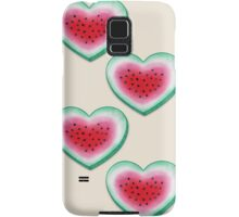 Summer Love - Watermelon Heart Samsung Galaxy Case/Skin