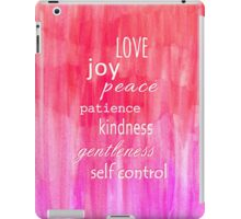 Inspirational Text on Pink Watercolor Abstract iPad Case/Skin