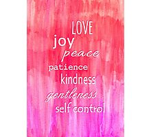 Inspirational Text on Pink Watercolor Abstract Photographic Print