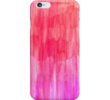 Hot Pink, Melon & Magenta Watercolor Abstract iPhone Case/Skin