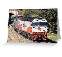 El Zorro Grain Train. Greeting Card