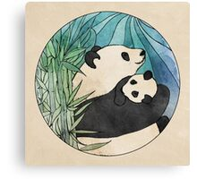 Panda Love Canvas Print