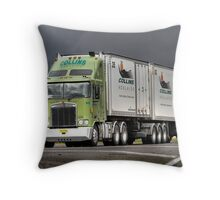 Collins Transport K104 B-Double. Throw Pillow