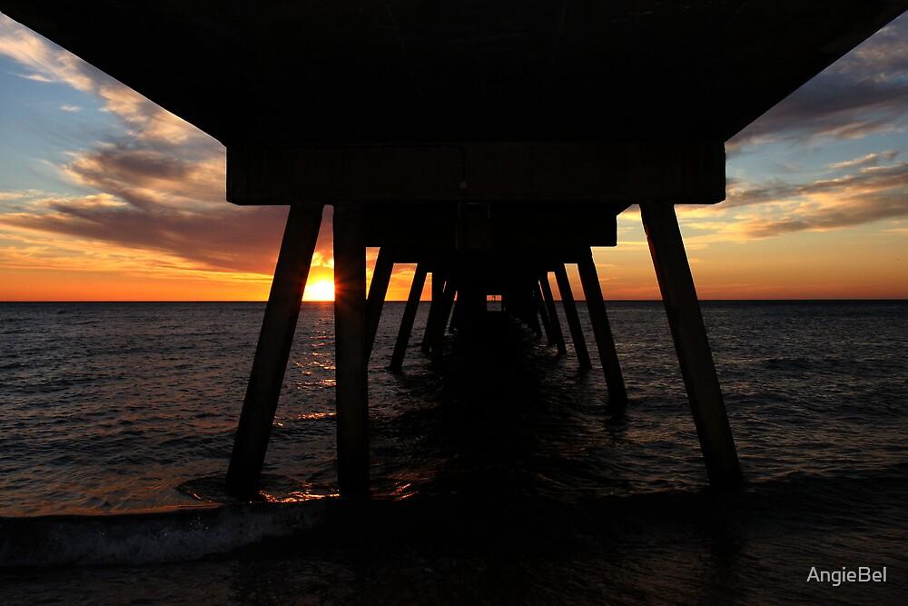 Glenelg Jetty At Sunset by AngieBel