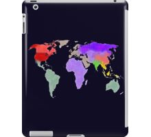 Colorful world map in water color iPad Case/Skin