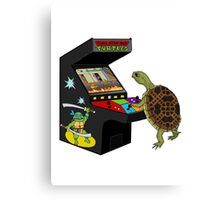 Arcade Ninja Turtle Canvas Print