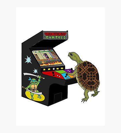 Arcade Ninja Turtle Photographic Print
