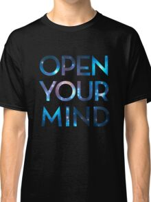 OPEN YOUR MIND, Galaxy, Space, Universe, Star Classic T-Shirt