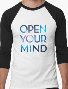 OPEN YOUR MIND, Galaxy, Space, Universe, Star Men's Baseball ¾ T-Shirt