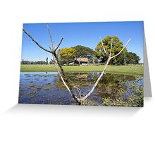 Rustic Shack Reflection, Pacific Highway, Australia 2011 Greeting Card