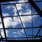 Broken Roof and Blue Sky by Hieu Nguyen